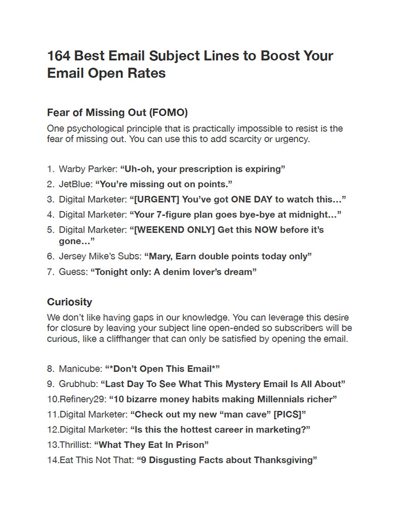 外贸开发信电子书:164个提高邮件打开率的最佳主题行