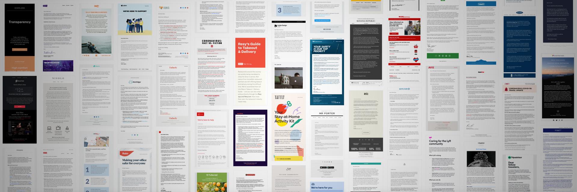 在新冠肺炎疫情COVID-19期间,这100多个国外公司发给客户的邮件到底长啥样子?直接提供截图供你参考